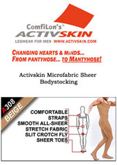 Activskin Microfabric Sheer Bodystocking (A308)