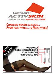 Activskin Sheer Full Support Gartered Stockings 2 Pair Pack (A1050) Thumbnail