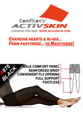 Activskin Thermofabric Opaque Full Support With Fly Footless Tights (A876) Thumbnail