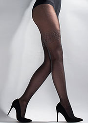 Aristoc Sheer Lurex Tights With Welt Design