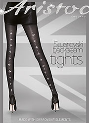 Aristoc Swarovski Seamed Tights Zoom 1