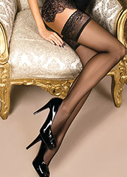 Ballerina Gaia Classic Lace Top Hold Ups Zoom 2