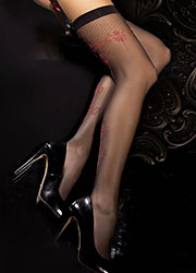 Ballerina Atropos Dotted Backseamed Stockings Zoom 2