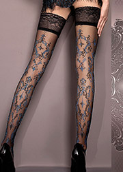 Ballerina Kara Deep Lace Top Hold Ups Zoom 2