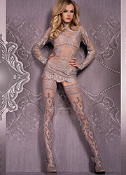Ballerina Herja Deep Lace Top Hold Ups Zoom 1