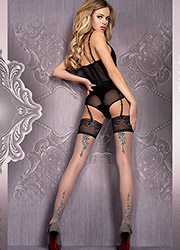 Ballerina Mani Deep Lace Top Hold Ups Zoom 1