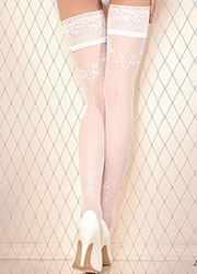 Ballerina Sif Deep Lace Top Hold Ups Zoom 2