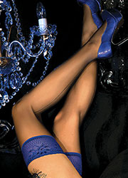 Ballerina Clio Backseamed Deep Lace Top Hold Ups Zoom 2