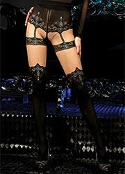 Ballerina Eudora Mock Suspender Tights Zoom 2