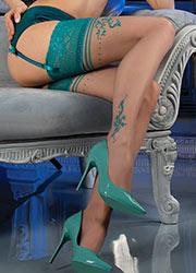 Ballerina Demeter Deep Lace Top Hold Ups Zoom 2