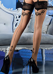 Ballerina Athena Dotted Backseamed Hold Ups Zoom 2
