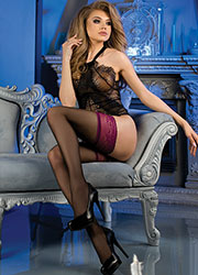 Ballerina Persephone Deep Lace Top Hold Ups