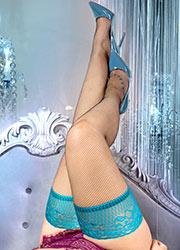 Ballerina Evangeline Fishnet Lace Top Plus Size Hold Ups Zoom 2