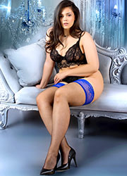 Ballerina Adelaide Fishnet Lace Top Plus Size Hold Ups