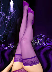 Ballerina Sienna Lace Top Plus Size Hold Ups Zoom 2
