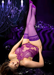 Ballerina Sienna Lace Top Plus Size Hold Ups Zoom 1
