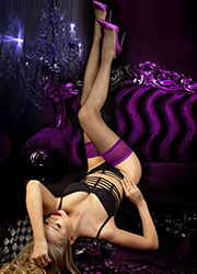 Ballerina Genevieve Fishnet Lace Top Hold Ups