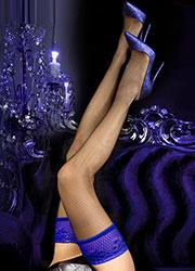 Ballerina Elise Fishnet Lace Top Hold Ups Zoom 2
