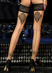 Ballerina Hestia Lace Top Hold Ups Zoom 2