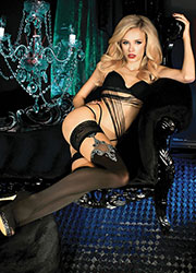 Ballerina Lada Lace Top Hold Ups Zoom 1