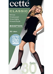 Cette Boston 30 Semi Opaque Plus Size Knee Highs