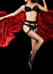 Charnos Boudoir Bodyfree Smooth Suspender Tights Zoom 1
