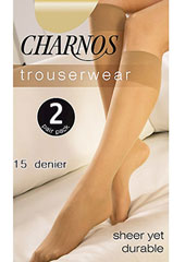 Charnos Sheer Knee Highs 2 Pair Pack