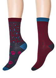 Charnos Animal Floral And Spot Socks 2PP