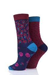 Charnos Animal Floral And Spot Socks 2PP Zoom 2