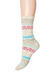 Charnos Autumn Fairisle Pattern Socks