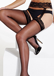 Charnos Boudoir Lace Suspender Tights Zoom 2