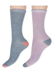 Charnos Contrast Heel And Toe Bamboo Socks Zoom 1