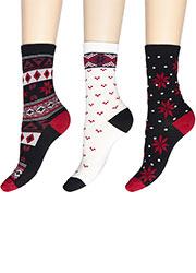 Charnos Fairisle Socks 3PP