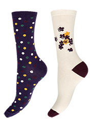 Charnos Floral Placement And Spot Socks 2PP Zoom 2