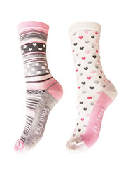 Charnos Heart And Stripe Socks 2PP Zoom 2