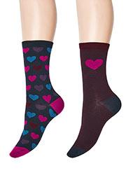 Charnos Heart Socks 2PP