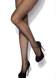 Charnos Lurex Mock Fishnet Tights