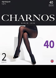 Charnos Opaque 40 Denier Matt Tights 2 Pair Pack