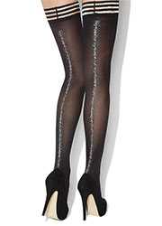Charnos Printed Backseam Sparkle Hold Ups