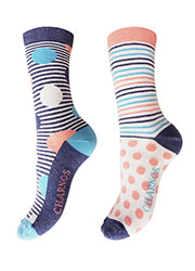 Charnos Spots And Stripes Socks 2PP Zoom 2