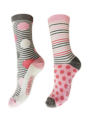Charnos Spots And Stripes Socks 2PP