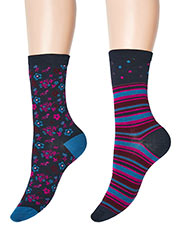 Charnos Stripe And Floral Socks 2PP