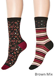 Charnos Stripe And Floral Socks 2PP Zoom 3