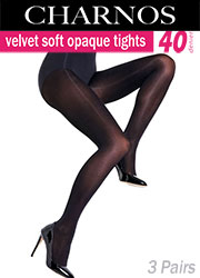 Charnos Velvet Soft 40 Denier Opaque Tights 3PP