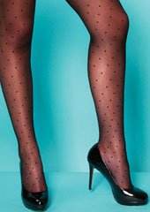 Charnos XeLence Mini Spot Plus Size Tights Zoom 2