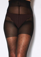 Charnos XeLence Mini Spot Plus Size Tights Zoom 3