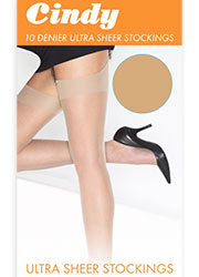 Cindy 10 Denier Ultra Sheer Stockings Zoom 1