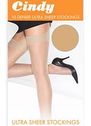 Cindy 10 Denier Ultra Sheer Stockings