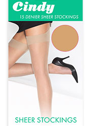 Cindy 15 Denier Sheer Stockings