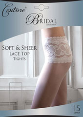 Couture Soft And Sheer Bridal Lace Top Tights Zoom 1